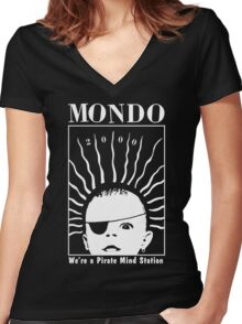 MONDO 2000 - Pirate Mind Station Women's Fitted V-Neck T-Shirt