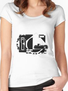 Photographer design Women's Fitted Scoop T-Shirt