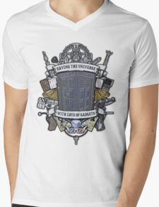 Time Lord Crest Mens V-Neck T-Shirt