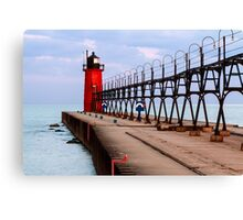 South Haven Lighthouse with Catwalk Canvas Print