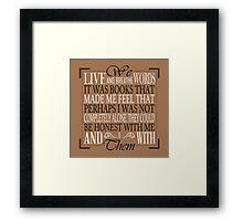We Live and Breathe Words (Brown) Framed Print