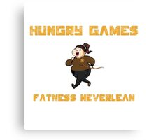 Hungry Games Fatness Neverlean Canvas Print