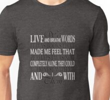 We Live and Breathe Words (Brown) Unisex T-Shirt