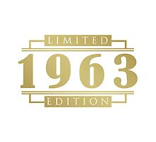 1963 Birthday Limited Edition by thepixelgarden