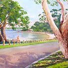 View of Point Heathcote on the Swan River, WA by Gregory Pastoll