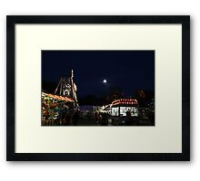 Carnival and Moon Framed Print