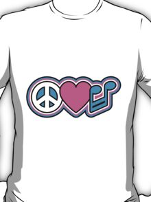 PEACE LOVE MUSIC Symbols T-Shirt
