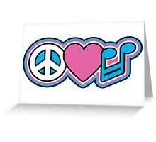 PEACE LOVE MUSIC Symbols Greeting Card