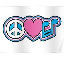 PEACE LOVE MUSIC Symbols Poster