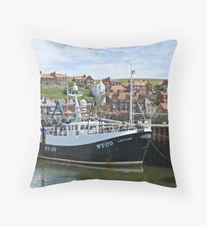 Fishing boats @ Whitby Throw Pillow