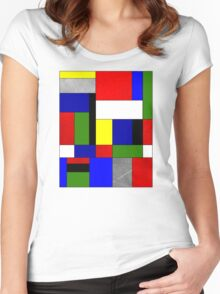 Mondrian #4 Women's Fitted Scoop T-Shirt