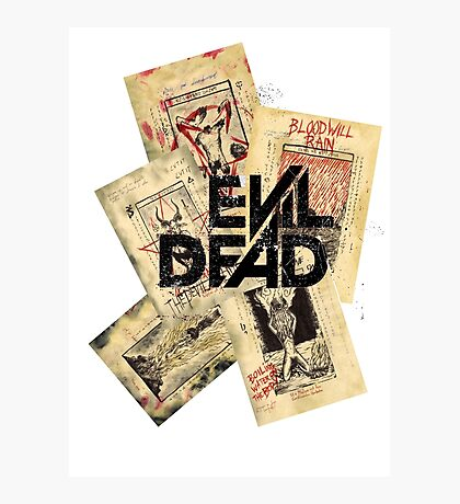 the evil dead ash vs the evil dead army of darkness  Photographic Print