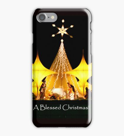 A Blessed Christmas iPhone Case/Skin