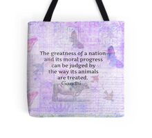 Mahatma Gandhi about animals Tote Bag