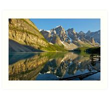 Moraine Lake Reflections Art Print