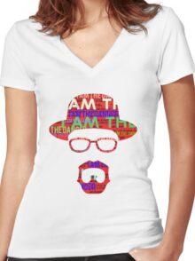 I am the danger. Women's Fitted V-Neck T-Shirt
