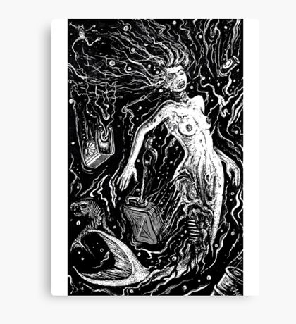 THE MERMAIDS POLLUTION TORMENT (FOR LIGHT BACKGROUND) Canvas Print