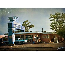 The Blue Swallow Motel Photographic Print