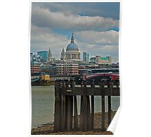 A view to St Paul's Cathedral, London Poster