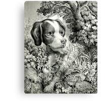 Vintage Hunting Dog Print Canvas Print