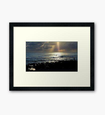 In Heavens Spotlight Framed Print