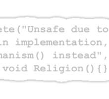 Deprecated Religion, C# Sticker