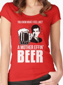 A Mother Effin' Beer Women's Fitted Scoop T-Shirt