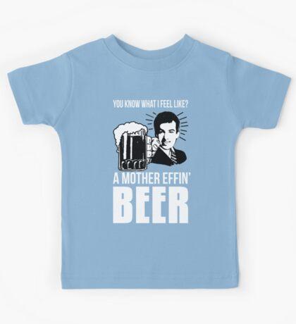 A Mother Effin' Beer Kids Tee