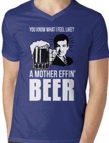 A Mother Effin' Beer Mens V-Neck T-Shirt