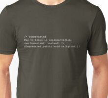 Deprecated Religion, Java Unisex T-Shirt