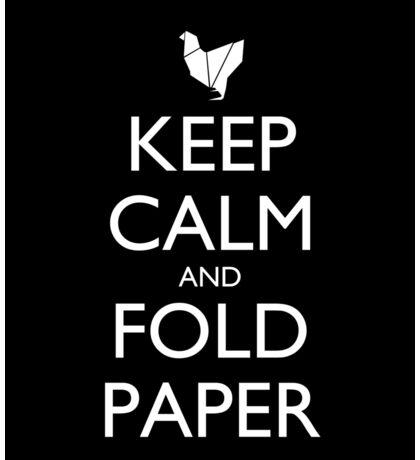 Keep Calm and Fold Paper - Chicken/Black Sticker