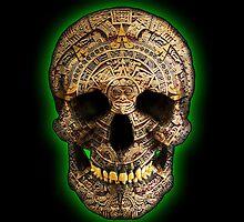 Mayan Skull by Perros De Guerra