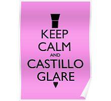 Keep Calm and Castillo Stare - Pink (Miami Vice) Poster