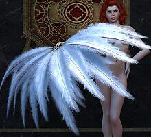 Burlesque Feather Dancer by Alexander Butler