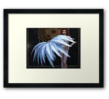 Burlesque Feather Dancer Framed Print
