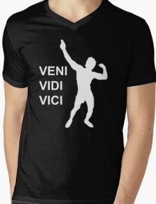 Zyzz - Veni Vidi Vici (White) Mens V-Neck T-Shirt