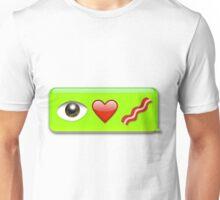 I Love Bacon - Emoji Unisex T-Shirt