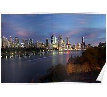 Brisbane CBD Skyline  Poster