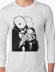 Transmetropolitan - Spider Jerusalem Smoking Long Sleeve T-Shirt