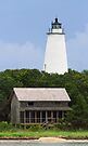Ocracoke Light and Beach House by Kenneth Keifer