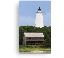 Ocracoke Light and Beach House Canvas Print