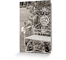 Vintage Looking Chair - Digital Oil Greeting Card