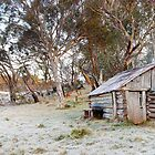 Frosty Guys Hut, Alpine National Park, Victoria, Australia by Michael Boniwell