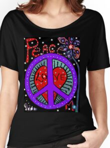 Peace in the Night Women's Relaxed Fit T-Shirt