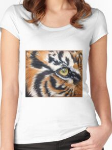 Eye of the Tiger Women's Fitted Scoop T-Shirt