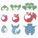 Pokemon Iconography Color by gallantdesigns