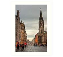 Early Evening Along the Royal Mile Art Print