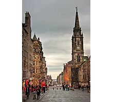 Early Evening Along the Royal Mile Photographic Print
