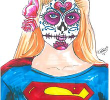 Supergirl Sugar Skull by Tony Heath