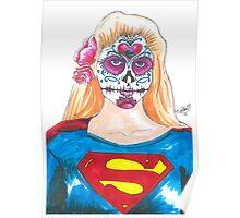 Supergirl Sugar Skull Poster